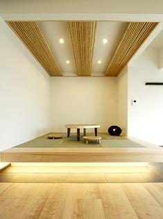 Japanese Modern House, Muji Style, Kitchen Dinning, Meditation, Second Floor, New Homes, Restaurant, Flooring, Architecture