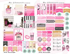 Fashion handbag and Starbucks planner stickers, banners, to do lists! ra-element.com