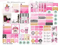 Fashion handbag and Starbucks planner stickers, banners, to do lists! ra-element.com
