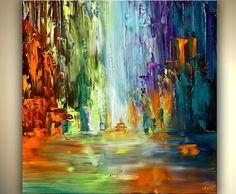 ORIGINAL Signed Modern Palette Knife Textured by OsnatFineArt, $420.00
