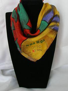 Vintage Otto Kern Noa Noa silk hanky or pocket от MyLovelyEarrings