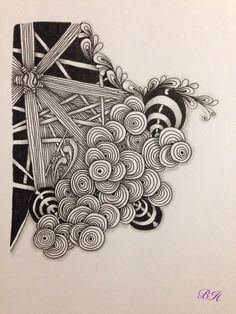 Zentangle inspirierte Zeichnung. Von Silberstreif. #zentangle #doodle