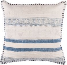 Bring a refined look to your living space by adding this Artistic Weavers Ronda Poly Euro Pillow. Features navy color and global-inspired style.