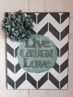 Canvas  chevron  wall art  home decor  by ForTheLoveOfCanvases, $25.00