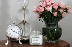 need a little clock for my bedside table. precious styling.
