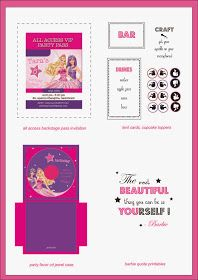 Free Barbie The Princess And Popstar Party Printables Download At Themagicpaintboxblogspotin