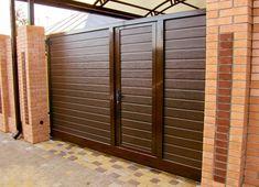 New Modern Main Door Design Garage Ideas Home Gate Design, House Main Gates Design, Main Entrance Door Design, Steel Gate Design, Front Gate Design, Entrance Gates, Fence Design, Garage Design, Gate Designs Modern