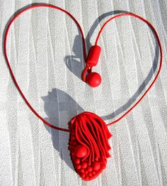 Just Red | SOLD | Sonya's Polymer creations | Flickr