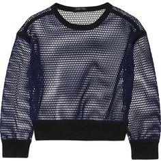 OHNE TITEL Reversible mesh sweatshirt (155 AUD) ❤ liked on Polyvore