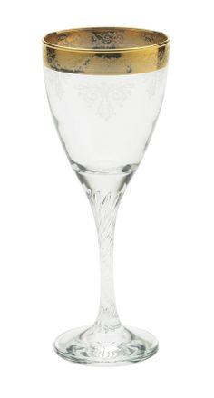 """""""Twist"""" red wine glass by Lisbeth Dahl Copenhagen Autumn/Winter 13. #LisbethDahlCph #Winter #Twist #Gold #Red #Wine #Glass #Kitchen"""