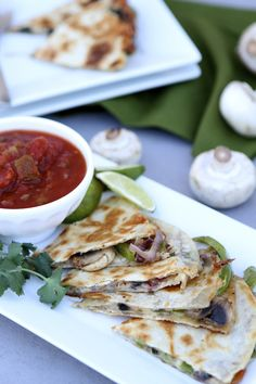 Fajita-Style Quesadillas from @Maria Canavello Mrasek (Two Peas and Their Pod). Get the full recipe on our Delish Dish blog: http://www.bhg.com/blogs/delish-dish/2014/03/23/fajita-style-quesadillas/
