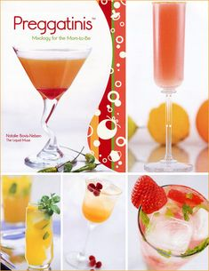 """another pinner said : """"This site says these drinks are great for """"pregnant friends"""" that can't drink alcohol....I checked out the recipes, they're also fun for those of us who just don't drink alcohol ever! Great for parties/showers."""""""