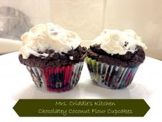Chocolate Coconut Flour Cupcakes - Mrs. Criddles Kitchen- Trim Healthy Mama