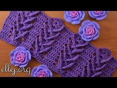 """Узор крючком """"Дельфиниум"""". Delphinium crochet stitch - YouTube"""