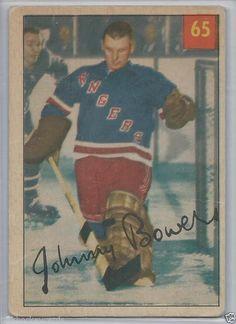 1954-55 Parkhurst # 65 Johnny Bower RC UER  Toronto Maple Leafs #TorontoMapleLeafs