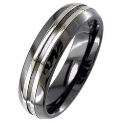 Photograph: Men's Zirconium Ring 4019RB