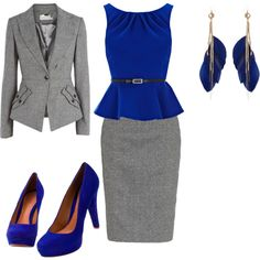 A fashion look from September 2012 featuring Coast tops, Monsoon skirts and River Island earrings. Browse and shop related looks. Classy Outfits, Chic Outfits, Fashion Outfits, Fashion Trends, Suit Fashion, Dress Outfits, Dresses, Fashion Design, Work Suits