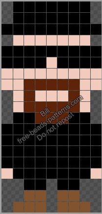 Heisenberg Breaking Bad character free Perler Hama beads pattern 9x19