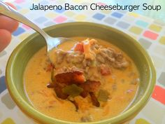 Jalapeno Bacon Cheeseburger Soup! Low carb, keto diet friendly, takes just 30 minutes to make! YUM!