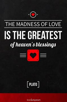 """""""The madness of love is the greatest of heaven's blessings.""""Plato Click through for all 78 cute love quotes! Love Quotes For Her, Best Love Quotes, Coping With Stress, Positive Psychology, Inspirational Books, Self Help, Happy Life, Madness, Quotations"""