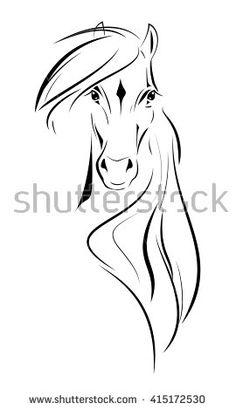 Vector logo head Horse