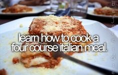 Learn how to cook a four course Italian meal