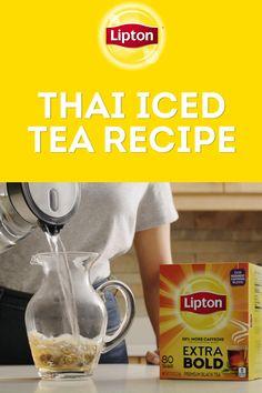 Thai Tea Recipes, Iced Tea Recipes, New Recipes, Cooking Recipes, Refreshing Drinks, Summer Drinks, Fun Drinks, Thai Ice, Tasty Kitchen