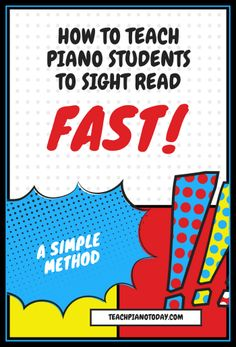 Sight Reading FAST - a 4 step method to teaching kids to efficiently sight read on the piano. #PianoTeaching #PianoLessons