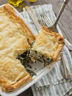 """YOTAM OTTOLENGHI'S SPINACH, RICOTTA & FETA PIE ~~~ this recipe is shared from the book, """"jerusalem [Yotam Ottolenghi[ [spicyicecream]"""