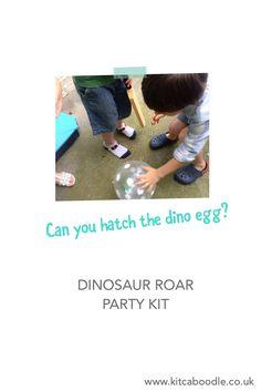Dinosaur Egg Hatch | Dinosaur Roar Party Kit | Dinosaur Party Inspiration| Kit & Caboodle Parties