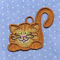 A Design By Lyn Free Standing Lace Cats for machine embroidery