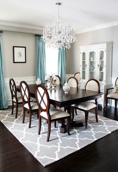 Crystal Chandeliers for Dining Room with Traditional Vintage China Buffet