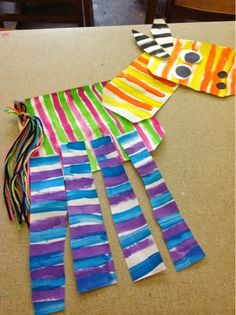 Color It Like you MEAN it!: Zebras! Using paper, watercolor, and yarn. Kindergarten and patterns.