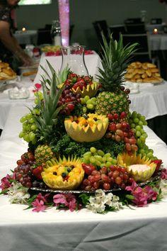 Cascading Fruit Displays | Belated Wedding Week: Wedding Decor