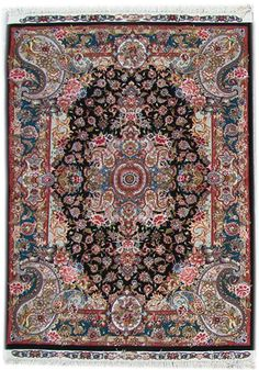 Tabriz Silk Persian Rug - Item# Size: 150 x 200 (cm) 11 x 6 (ft) Persian Carpet, Persian Rug, Iranian Rugs, Tabriz Rug, Machine Made Rugs, Magic Carpet, Handmade Rugs, Oriental Rug, Silk Material