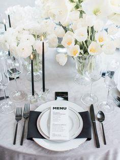 Graphic Modern Wedding Design in Black and White