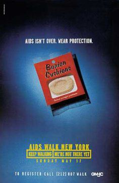 Read more: https://www.luerzersarchive.com/en/magazine/print-detail/2372.html Aids isn´t over. Wear protection. Pay-off: Aids walk New York. Keep walking. We´re not there yet. Tags: Young & Rubicam (Y&R), New York,Robert Dufour,Betsy Petropoulos,GMHC,Nicholas Everleigh