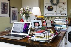 Eclectic Home Office by Nan Mac Mark