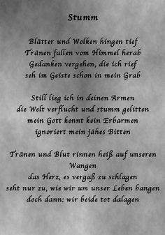 """Gedicht: """"Stumm"""""""