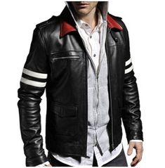 Men's leather jackets are a very important component to every single man's set of clothes. Men will need outdoor jackets for several occasions and several climate conditions. Men's Jacket Stylish. Black Leather Biker Jacket, Leather Men, Leather Jackets, Blazers For Men Casual, Man Set, Men's Wardrobe, Jacket Style, Motorcycle Jacket, Mens Fashion