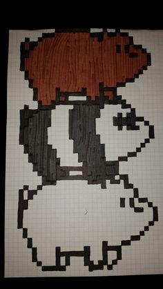 We bare bears pixel art Graph Paper Drawings, Graph Paper Art, Art Drawings, Pixel Pattern, Pattern Art, Cross Stitch Designs, Cross Stitch Patterns, Square Drawing, Pixel Drawing