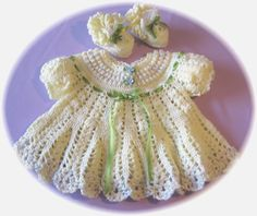 BABY CROCHETED DRESS FREE PATTERN | FREE PATTERNS
