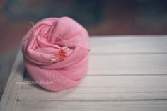 Raspberry Coral Stretchy Wrap and Tieback Headband  by clickknits