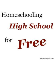 #Homeschooling High School For #Free {and HomeSchool High Link-Up}-- Great list of free resources for high school!