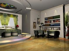The interior design of apartments and offices.