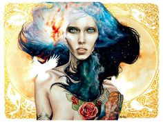watercolor Tattoo | Here are some impressive watercolour paintings done by the artist N.S ...