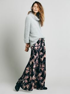 57d22799e852 Free People Butterfly Velvet Wideleg, $228.00 Blue Ivory, Butterfly Print,  Boho Outfits,