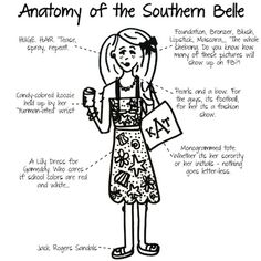 Anatomy of the Southern Belle. Dang I guess I never realized how popular David Yurman was for southern girls. Southern Girls, Southern Belle Secrets, Southern Pride, Southern Sayings, Preppy Southern, Southern Comfort, Simply Southern, Southern Charm, Southern Living