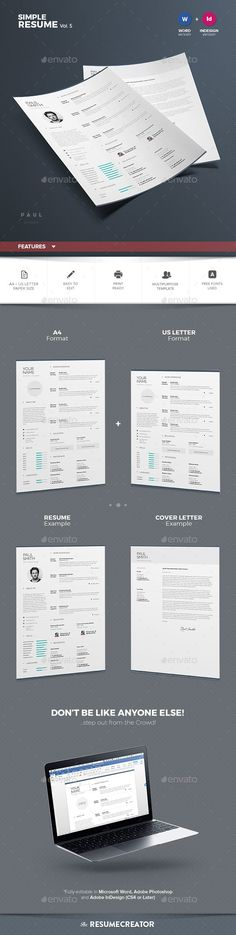 Elegant Resume\/CV Resume Template PSD, InDesign INDD Download - elegant resume templates