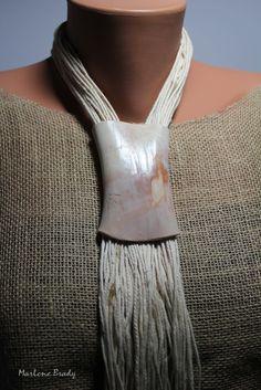 Marlene Brady. Faux Bone and Cotton String.